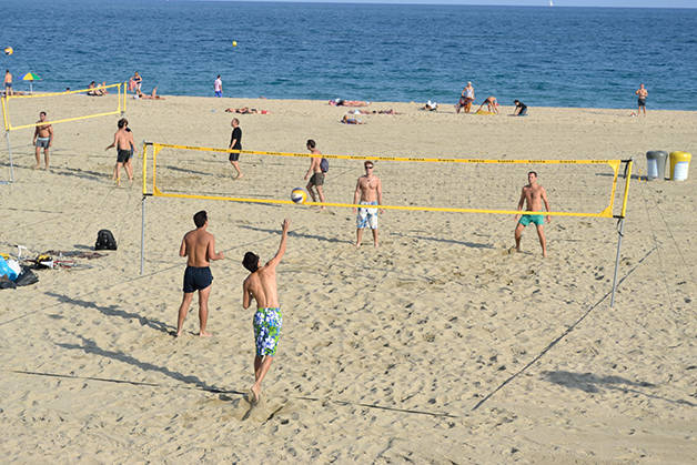 Spiagge di Barcellona beach volley