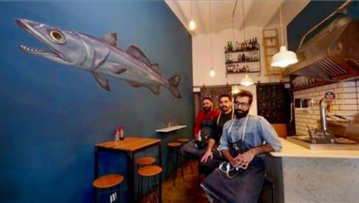 The Fish&chips Shop: il team nel locale
